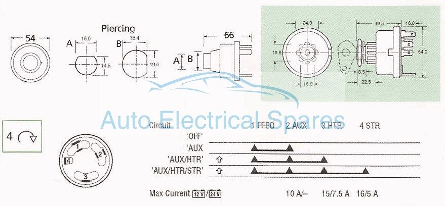 mitsubishi tractor ignition switch wiring diagram interaction example lucas 35670 128sa